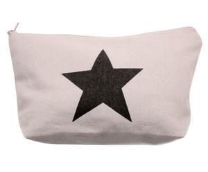 Kulturbeutel Star, grau/schwarz, B 18 cm