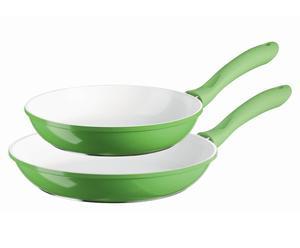 Pfannen-Set Alioth Big, 2-tlg., weiß/grün