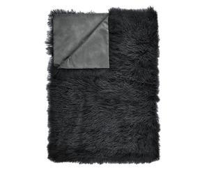 Schaffell-Plaid Jimmy, schwarz, 60 x 120 cm