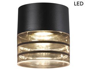 LED-Deckenleuchte Asanty, schwarz, H 15 cm