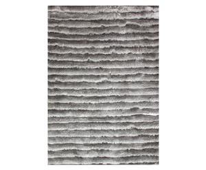 Langflorteppich Priamos, grau gestreift, 160 x 230 cm