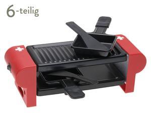 Raclette-Set CH-Kreuz, rot, 6-tlg.