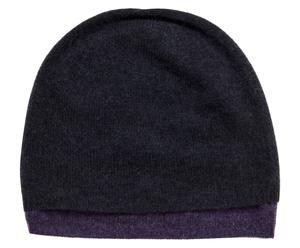 Cashmere-Mütze Duette, dunkelblau/violett