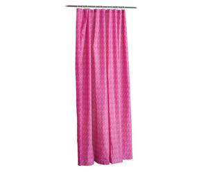 Duschvorhang Gada mit Befestigungsschlaufen, pink, B 180 cm