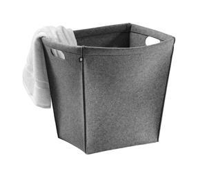 Wäschekorb Memphis, grau meliert, H 45 cm