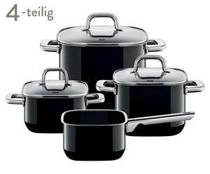 Topf-Set Quadro, 4-tlg., schwarz