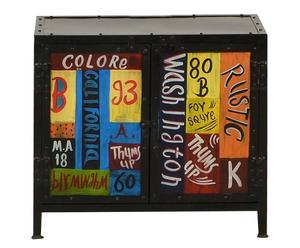 Handbemalter Waschbeckenunterschrank Colore, B 68 cm / H 60 cm