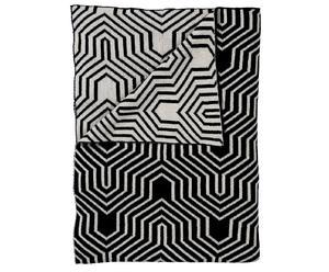 Baumwolldecke Binky, schwarz, 130 x 170 cm