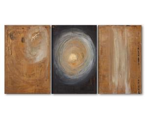 Triptychon Ancient visions, Druck auf Leinwand, je 80 x 120 cm