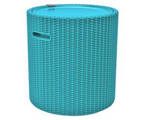 Kühlbox Kathi mit Ablagefläche, türkis, H 45 cm