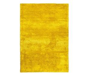 Handgewebter Teppich Lowland, gelb, 140 x 200 cm