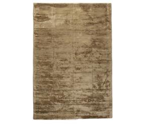 Handgewebter Teppich Silky, hellbraun, 160 x 240 cm