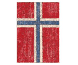 Teppich Flag Norsk, 120 x 180 cm