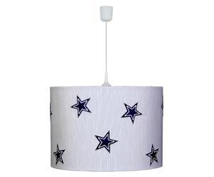 Hängeleuchte Sterne, blau/weiß, Ø 34 cm