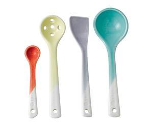 Handgefertigtes Küchenutensilien-Set Colorful, 4-tlg.