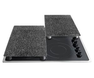 Herdschutzplatten Stoneline, grau, 2 Stück, 30 x 52 cm