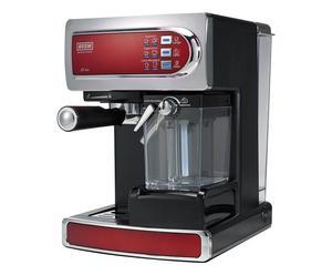 Halbautomatische Kaffee- & Espressomaschine Joy, rot/Edelstahl