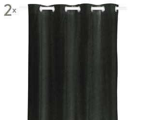 Vorhänge Luciano, 2 Stück, dunkelgrau, 140 x 245 cm