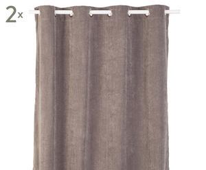 Vorhänge Luciano, 2 Stück, grau, 140 x 245 cm