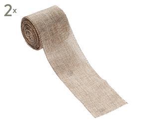 Geschenkband Ribbon, 2 Stück, natur, L 5 m