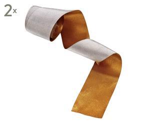 Geschenkband Ribbon, 2 Stück, L 5 m