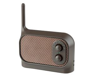 Tragbares Radio Mezzo, braun, B 16 cm