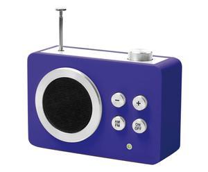 Tragbares AM- und FM-Radio Mini Dolmen, blau, B 13 cm