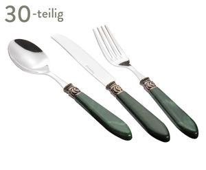 Besteck-Set Helena, 30-tlg., grün