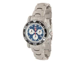 Armbanduhr Navy Diver 500, silberfarben/blau, Ø 4,5 cm