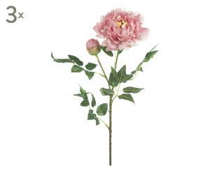 Kunstblumen Peony, 3 Stück, rosa, H 70 cm