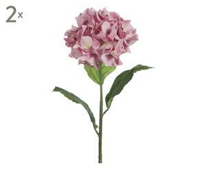 Kunstblumen Hydrangea, 2 Stück, rosa, H 85 cm