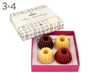 Gugl-Mini-Küchlein-Set Valentine, 3 Boxen à 4 Stück