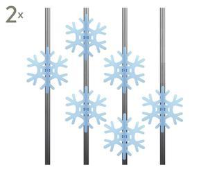 Balkon-Sichtschutz Crystal, 12 Stück, Ø 17 cm