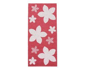 In- & Outdoor-Teppich Flower, rot/weiß, 70 x 150 cm