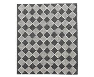 In- & Outdoor-Teppich Nate, schwarz/hellgrau, 150 x 200 cm