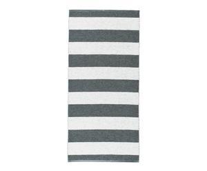 In- & Outdoor-Teppich Stripes, dunkelgrau/weiß, 70 x 150 cm