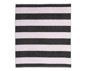 In- & Outdoor-Teppich Stripes, schwarz/weiß, 150 x 200 cm
