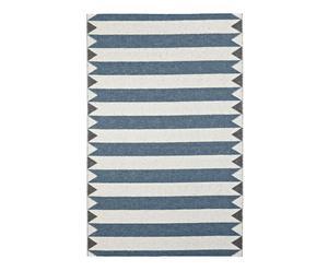 In- & Outdoor-Teppich Indiana, blau/weiß/grau, 70 x 200 cm