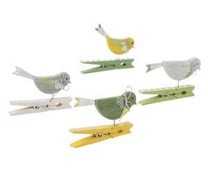 Deko-Wäscheklammer-Set Birds, 4-tlg., B 7 cm
