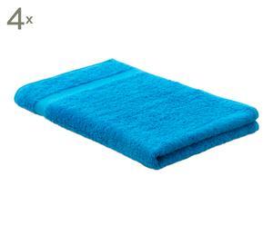 Handtücher JCLASSIC, 4 Stück, blau, 50 x 80 cm
