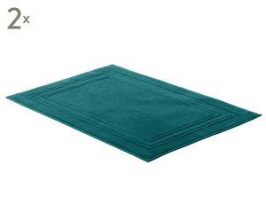 Badvorleger JCLASSIC, 2 Stück, dunkelgrün, 50 x 80 cm