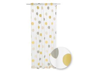 Vorhang J!Point, grün/gelb/weiß, 130 x 250 cm