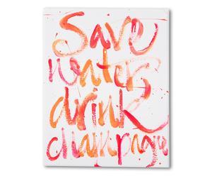Leinwanddruck Drink champagne, pink/orange, 20 x 30 cm
