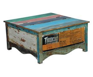 Handgefertigter Couchtisch Coloured, B 90 cm