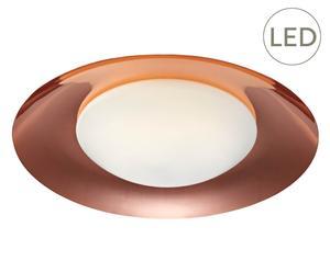 LED-Deckenleuchte Pastille, kupferfarben, Ø 50 cm