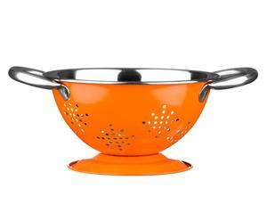 XS-Küchensieb Flake, orange/Edelstahl, B 18 cm