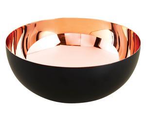 Deko-Schale Valencia, schwarz/kupferfarben, Ø 30 cm