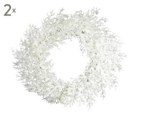 Deko-Kränze Schneeflocke, 2 Stück, Ø 22 cm