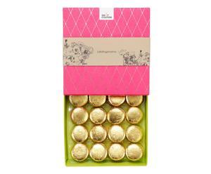 Handgefertigte Macarons Liebling mit Blattgold, 16 Stück, 150 g