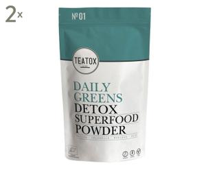Daily Greens Detox Superfood Powder, 2 Stück, je 120 g